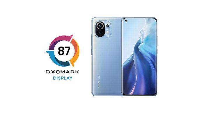 xiaomi mi 11 display dxomark