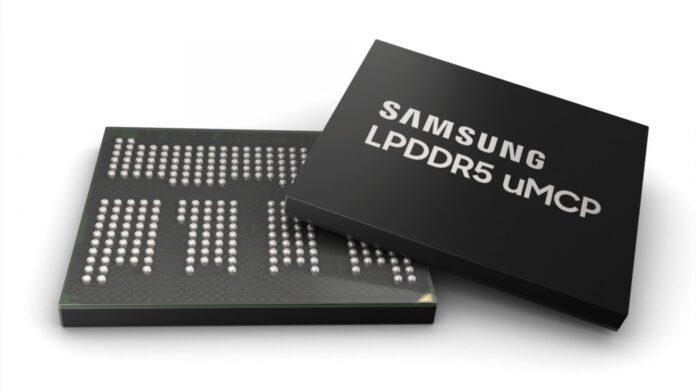 samsung chipset umcp memoria ram lpddr5 ufs 3.1 medio gamma