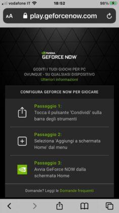 GeForce Now Apple Safari