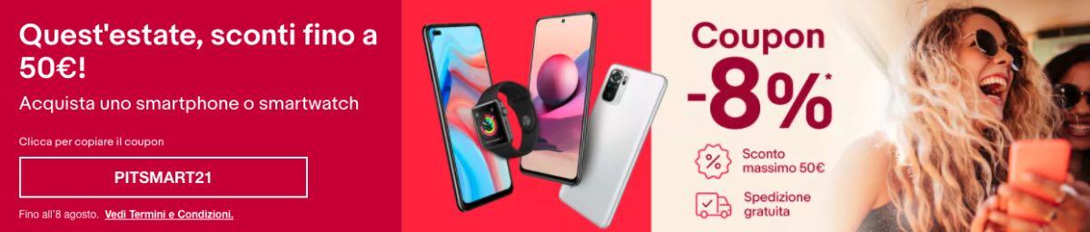 ebay codice sconto estate smart luglio 2021 offerte apple xiaomi oppo realme 2