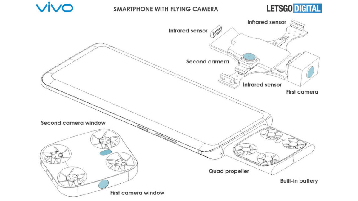 vivo smartphone fotocamera volante