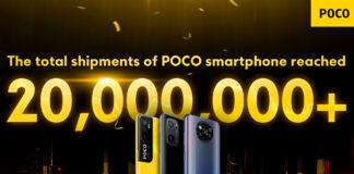 poco 20 milioni smartphone venduti