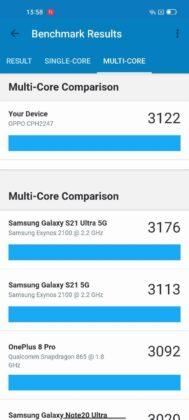 Reno6 Pro 5G benchmark