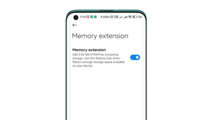 xiaomi memory extension
