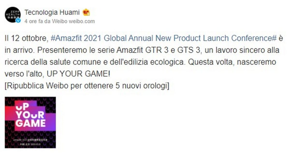 Amazfit GTR 3 e GTS 3