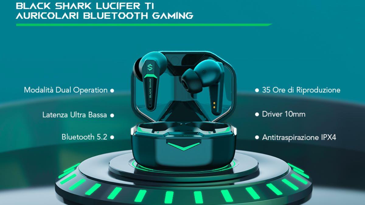 codice sconto black shark lucifer t1 offerta coupon auricolari TWS gaming bassa latenza 2