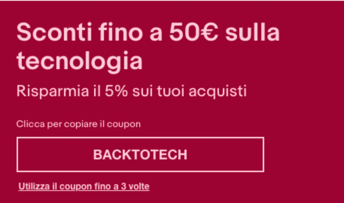 ebay coupon settembre 2021 offerta smartphone smart tv