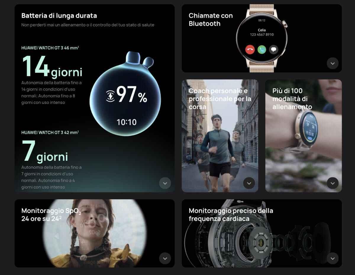 huawei watch gt 3 caratteristiche specifiche tecniche prezzo uscita 2