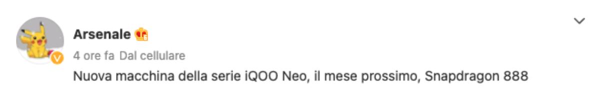 iqoo neo 7 caratteristiche specifiche tecniche prezzo uscita leak 28/09