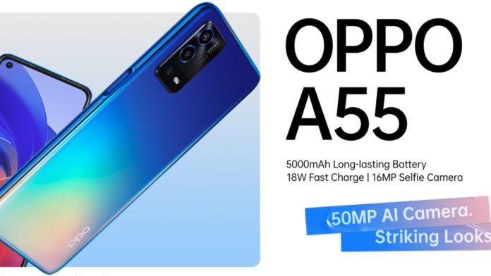 oppo a55 4G global specifiche tecniche prezzo uscita 01/10