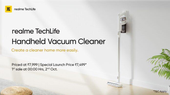 realme techlife handheld vacuum cleaner aspirapolvere senza fili specifiche prezzo uscita 30/09