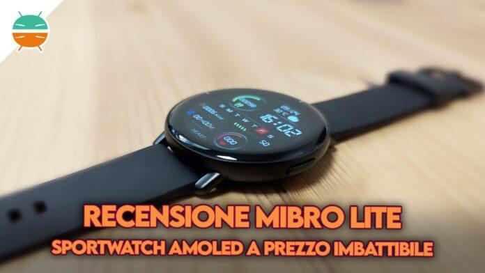 recensione mibro lite smartwatch sport copertina