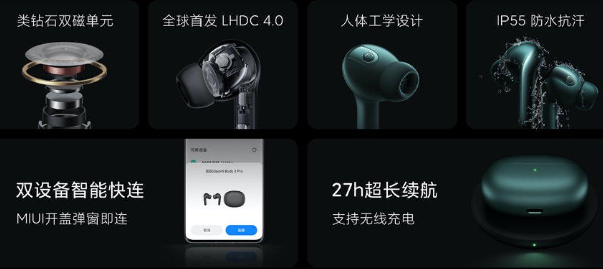 xiaomi mi true wireless earphones 3 pro air caratteristiche prezzo uscita 27/09-2