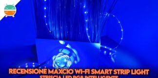 recensione maxcio wi-fi smart strip light striscia led rgb copertina